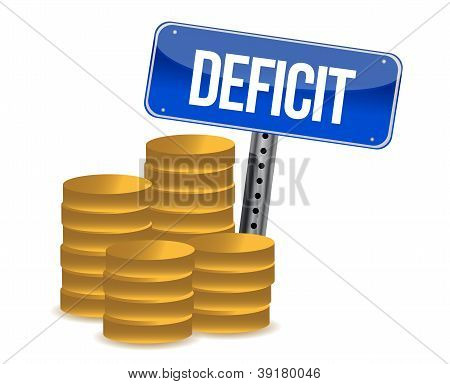 Deficit And Coins