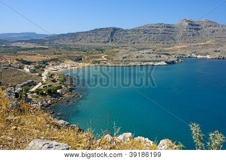 Seaside landscape in Rodos / Agathi