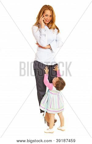 Busy Business Woman With Child