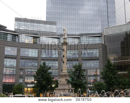 Columbus Circle In New York