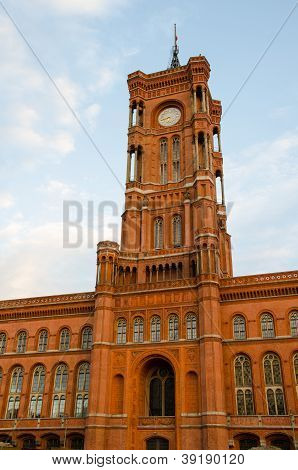 Berlin Town Hall (rotes Rathaus) In Germany