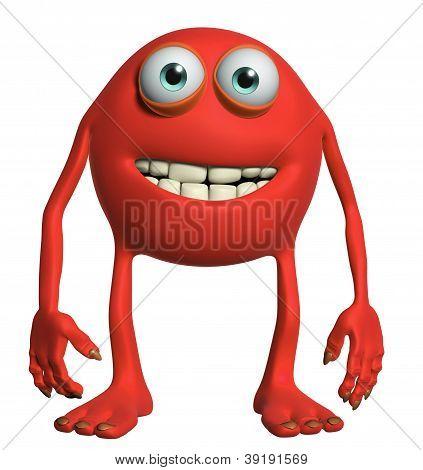 Happy Cartoon Monster