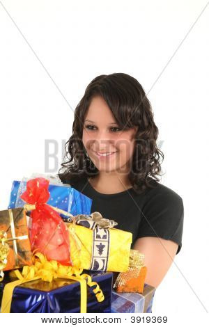 Teen And Presents