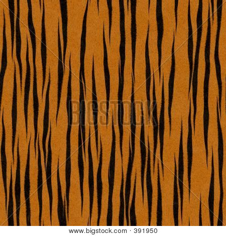 Faux Orange & Black Tiger Stripe Background