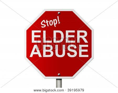 Stop Elder Abuse Sign