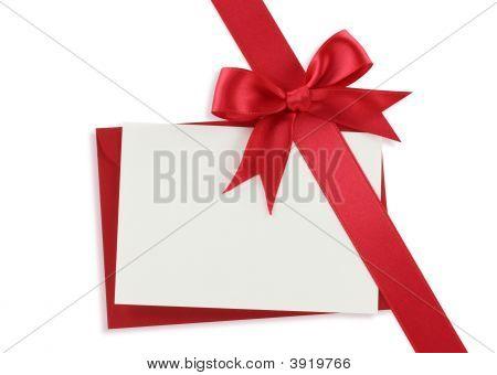 Diagonal red Geschenk bow
