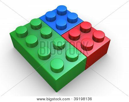 3D Rgb brinquedo Lego