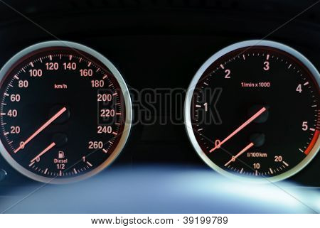 Dashboard Of Bmw
