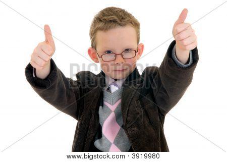 Successful Child Okay Gesture