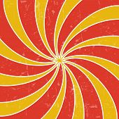 picture of hypnotizing  - Retro vintage grunge hypnotic background - JPG