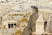 pic of gethsemane  - Ancient Jewish cemetery on the Mount of olives in Jerusalem - JPG
