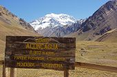 stock photo of aconcagua  - Aconcagua National Parc - JPG