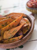 Sweet Potato Wedges With Tomato Salsa