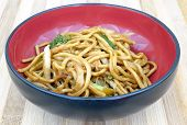 stock photo of lo mein  - lo mein chinese food noodles in bowl - JPG