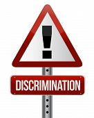 image of racial discrimination  - discrimination warning sign illustration design over a white background - JPG