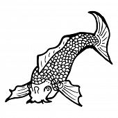picture of koi tattoo  - koi carp tattoo - JPG