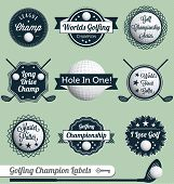 image of designated driver  - Golf related labels and icons including putting - JPG