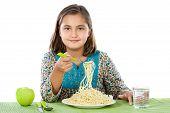 Girl Eating Spaghetti poster