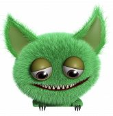 foto of gremlins  - 3 d cartoon cute green gremlin monster - JPG