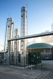 picture of biogas  - Photo of a part of a biogas plant - JPG
