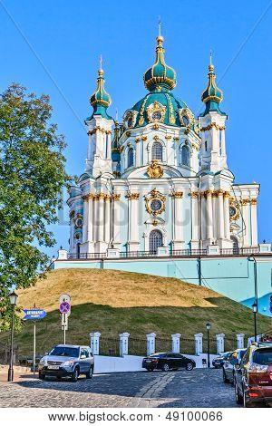 Andrew's Church Was Built In 1754, Kiev, Ukraine.