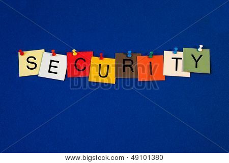 Security - Sign Series For Business.