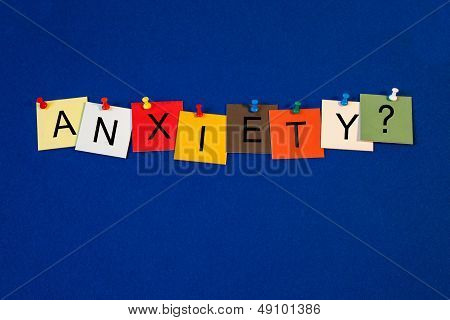 Anxiety - Sign For Health Care.