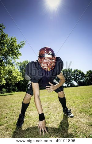 American Football Offensive Lineman