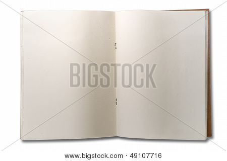 Blank Open Two Page Note Book