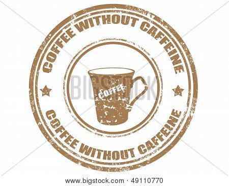 Coffee Without Caffeine-stamp