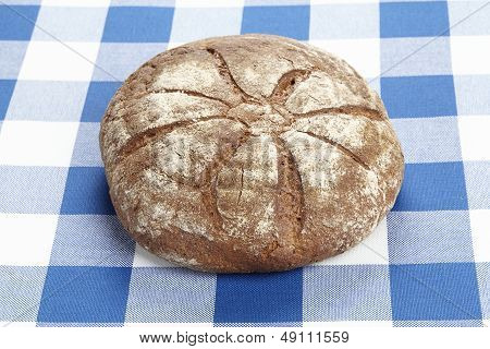 Bread On A Checkered Tablecloth