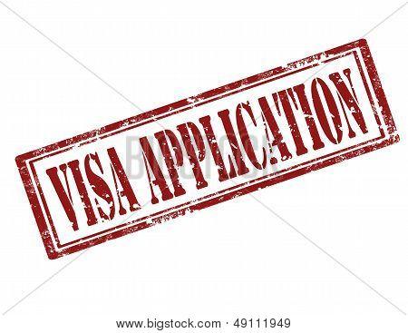 Visa Application-stamp