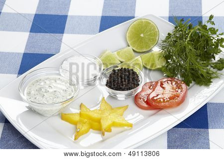 Plate Of Prepared Trimming