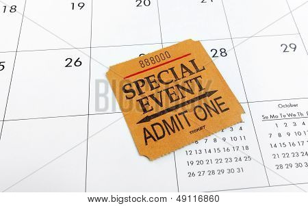 Ticket And Calendar