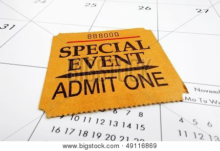 Event Ticket Stub
