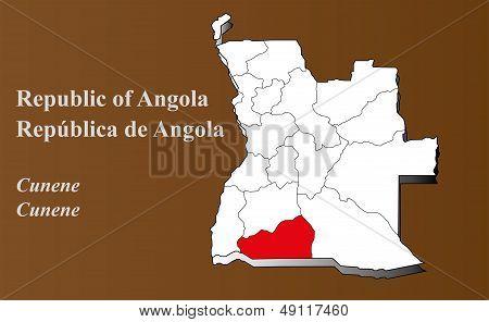 Angola - Cunene Highlighted