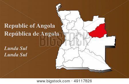 Angola - Lunda Sul Highlighted