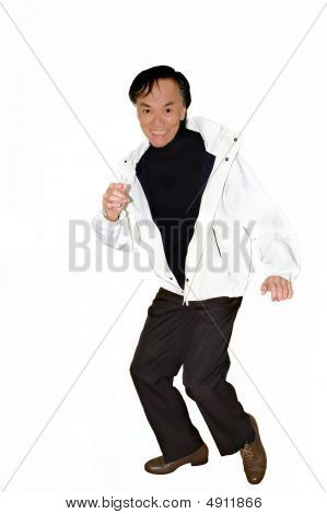 Fashionable Man  Dancing