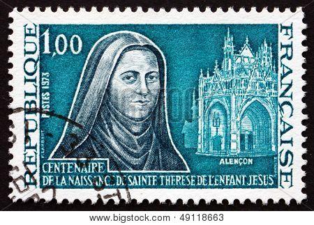 Postage Stamp France 1973 St. Teresa Of Lisieux, Carmelite Nun