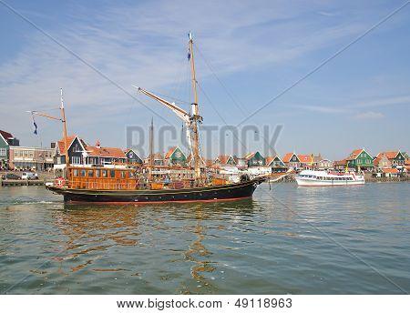Harbor of Volendam,Ijsselmeer,Netherland