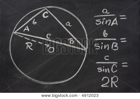 Trigonometry Law Explained On Blackboard