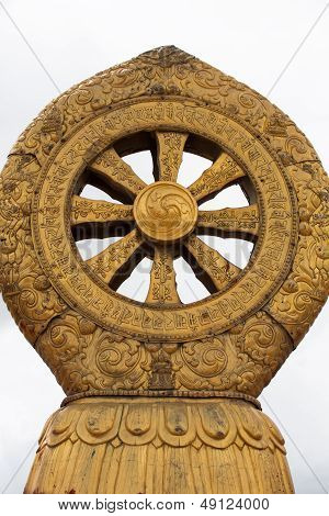 Religious Gold Symbol On Top Of A Temple
