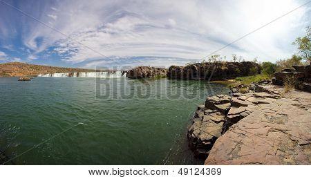 River Senegal Near Kayes In Mali