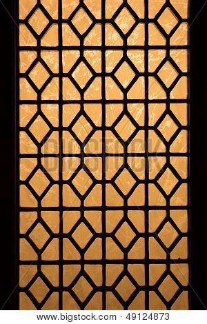 Chinese Stained Glass Window