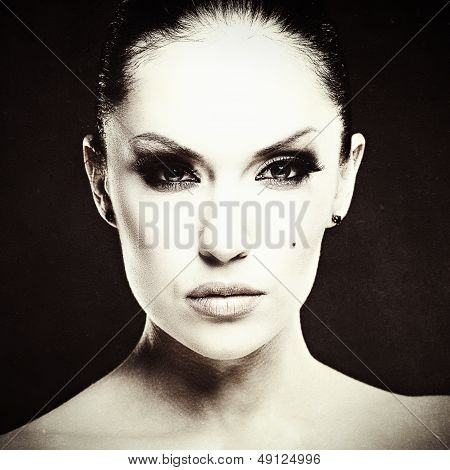 Adult Pretty Woman Fashion Portrait.