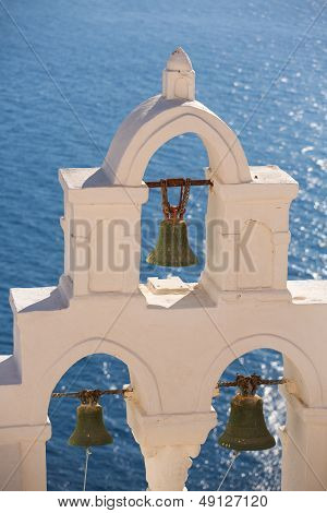 Green Bronze Bells Of A Orthodox Church