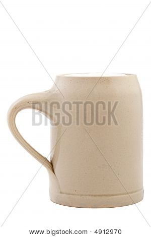 Beercup With Beer Isolated
