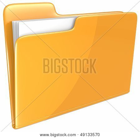 Orange Folder.