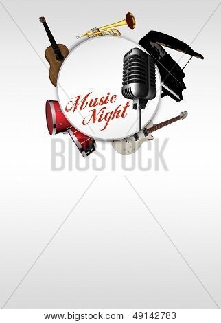 Music Concert Invitation Background