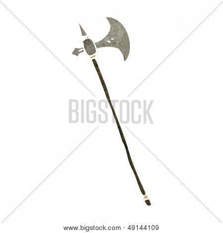 retro cartoon medieval axe